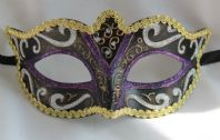 Purple, Black and Gold Mask